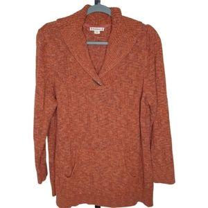 RUFF HEWN Shawl Collar Terra Pullover Sweater 1X